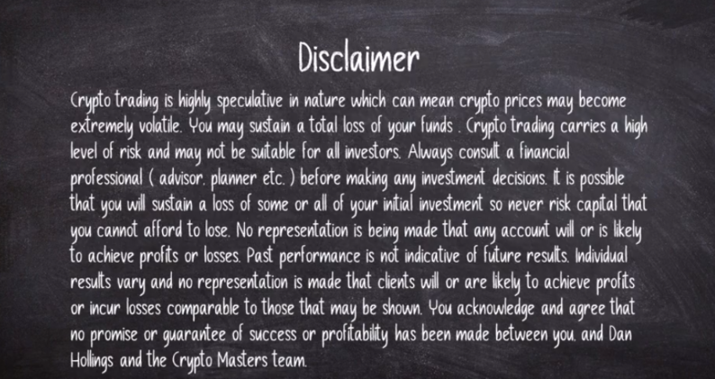 The Plan Disclaimer